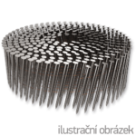 Coilnägel 16° 3,3 x 90 mm Ring EPAL, flach gewickelt, blank