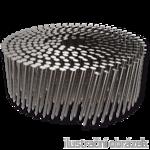Coilnägel 16° 3,1 x 90 mm Ring, flach gewickelt, blank