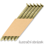 Papier-Streifennägel 34° D-Kopf 3,1 x 90 Ring verzinkt 12µ