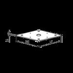 Stützenfussplatte 110x110x4,0 M24 (ohne Mutter)