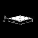 Stützenfussplatte 80x80x4,0 M20 (angeschweißte Mutter)
