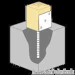 Stützenfuss Form L 120x100x4,0