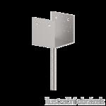 Stützenfuss Form U 80x80x4,0