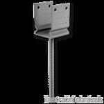 Stützenfuss Form U mit Rippe 80x80x4,0