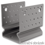 Pfostenlasche Form U mit Rippe 100x80x4,0