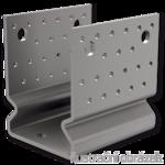 Pfostenlasche Form U mit Rippe 80x80x4,0