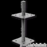 Stützenfuss, verstellbar 80x80x100x4,0 M16