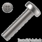 Linsenkopfschrauben Phillips-Kreuzschlitz DIN 7985 4.8, M4x12mm, verzinkt