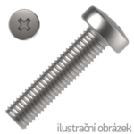 Linsenkopfschrauben Phillips-Kreuzschlitz DIN 7985 4.8, M8x70mm, verzinkt