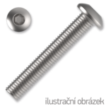 Linsenschrauben ISO 7380 Kl. 10.9 M8x16mm, mit Innensechskannt, verzinkt