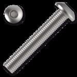 Linsenschrauben ISO 7380 Kl. 10.9 M6x8mm, mit Innensechskannt, verzinkt