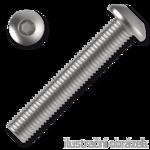 Linsenschrauben ISO 7380 Kl. 10.9 M4x8mm, mit Innensechskannt, verzinkt