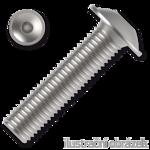 Linsen-Flanschschrauben ISO 7380-2 Kl. 10.9 M4x8mm, mit Innensechskant, verzinkt