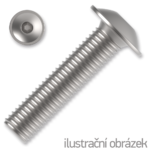 Linsen-Flanschschrauben ISO 7380-2 Kl. 10.9 M8x16mm, mit Innensechskant, verzinkt