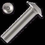 Linsen-Flanschschrauben ISO 7380-2 Kl. 10.9 M6x40mm, mit Innensechskant, verzinkt