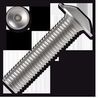 Linsen-Flanschschrauben ISO 7380-2 Kl. 10.9 mit Innensechska