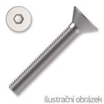 Senkschrauben mit Innensechskannt 5x60mm, DIN 7991, Kl. 10.9, verzinkt