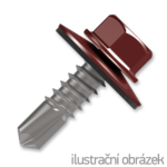 Trapezblechschrauben 4,8x20mm, selbstbohrende, RAL3009 rot