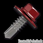 Trapezblechschrauben 4,8x35mm, selbstbohrende, RAL3011 rot