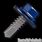 Trapezblechschrauben 4,8x35mm, selbstbohrende, RAL5010 blau