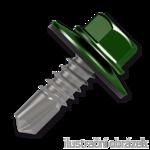 Trapezblechschrauben 4,8x20mm, selbstbohrende, RAL6020 grün