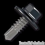 Trapezblechschrauben 4,8x35mm, selbstbohrende, RAL7016 grau