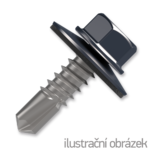 Trapezblechschrauben 4,8x35mm, selbstbohrende, RAL7024 grau