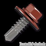 Trapezblechschrauben 4,8x20mm, selbstbohrende, RAL8004 braun