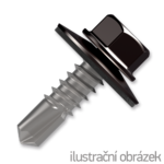 Trapezblechschrauben 4,8x35mm, selbstbohrende, RAL8019 braun