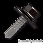 Trapezblechschrauben 4,8x20mm, selbstbohrende, RAL8019 braun