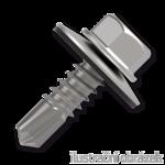 Trapezblechschrauben 4,8x20mm, selbstbohrende, RAL9006 weiß aluminium