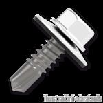 Trapezblechschrauben 4,8x35mm, selbstbohrende, RAL9010 weiß