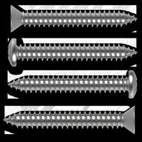 Blechschrauben mit Phillips-Kreuzschlitz