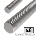 Gewindestange DIN976 M4x1000, Kl.4.8, verzinkt