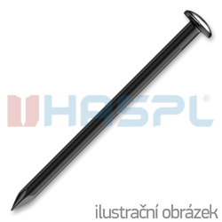 Stahlnägel gehärtet 2,0 x 35 mm, rundkopf, gebläut