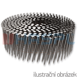 Coilnägel 16° 2,5 x 60 mm Ring, flach gewickelt, blank