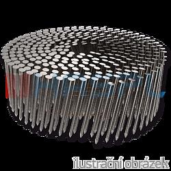 Coilnägel 16° 2,1 x 38 mm Ring, flach gewickelt, blank