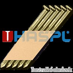 Papier-Streifennägel 34° D-Kopf 2,8 x 75 Ring verzinkt 12µ