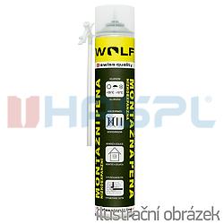 Montážní pěna WOLF PROFI nízkoexpanzní, 750ml, trubičková