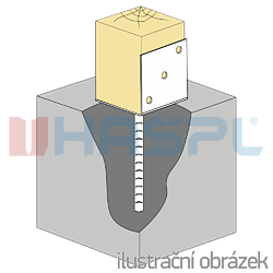 Stützenfuss Form L 80x80x4,0 - 1