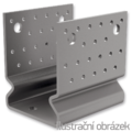Pfostenlasche Form U mit Rippe 60x60x4,0 - 1/3