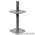 Stützenfuss, verstellbar 110x110x200x4,0 M24 - 1/3