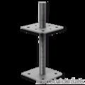 Stützenfuss, verstellbar 80x80x330x4,0 M24 - 1/2