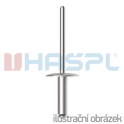 Blindniete großer Flachrundkopf 3,2x16 mm, Alu/Stahl