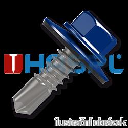 Trapezblechschrauben 4,8x20mm, selbstbohrende, RAL5010 blau