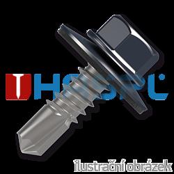 Trapezblechschrauben 4,8x20mm, selbstbohrende, RAL7024 grau