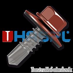 Trapezblechschrauben 4,8x35mm, selbstbohrende, RAL8004 braun