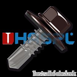 Trapezblechschrauben 4,8x35mm, selbstbohrende, RAL8017 braun
