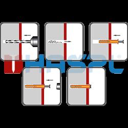 Nageldübel Flachkopf 6x55 mm, Nylon - 2