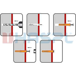 Nageldübel Flachkopf 6x35 mm, Nylon - 2